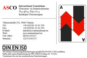 ASCO International Hamm